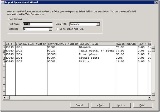 AccessImportSpreadsheetWizard2DataTypes
