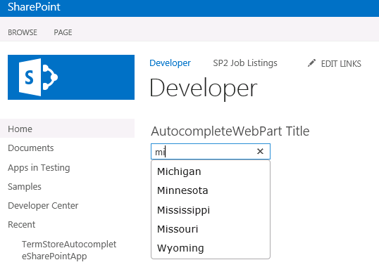 SharePoint 2013 Autocomplete textboxes using the term store
