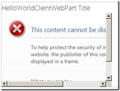 ClientWebPartNoFramingError