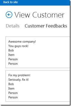 CloudBusinessAppCustomersViewFormCustomerFeedback