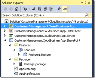 CloudBusinessAppSolutionExplorer