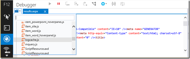 DisplayTemplatejQueryDeveloperToolbar