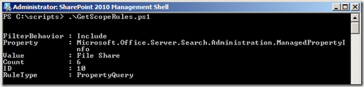 EnterpriseSearchPowerShellGetScopeRulesContentSource