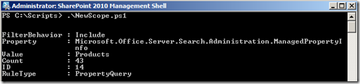 EnterpriseSearchPowerShellNewScopeRuleContentSource