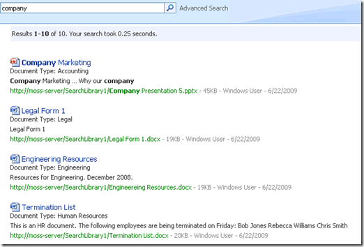EnterpriseSearchResults
