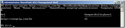 HNSCPowerShellNewSiteCollection