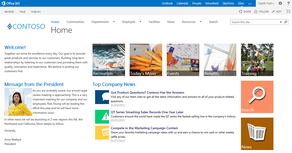 Sharepoint 2013 Homepage Gallery