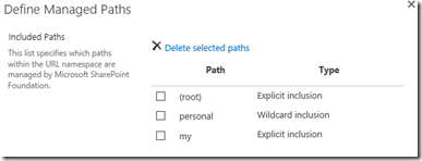 MySitesDefinedManagedPaths