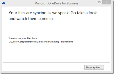 Office365OneDriveForBusinessSyncInProgress2