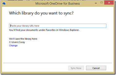 Office365OneDriveForBusinessSync