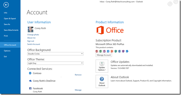 Office365ProPlusOutlookVersionSP1