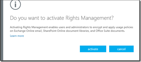 Office365RightsManagementActivate