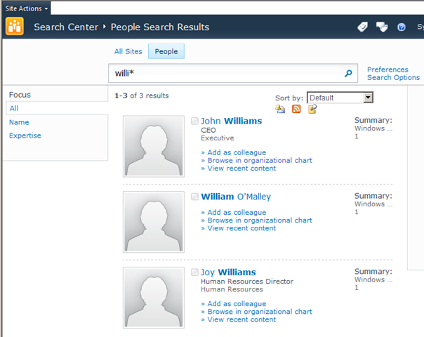 A Quick Look At Phonetic People Search In SharePoint 2010