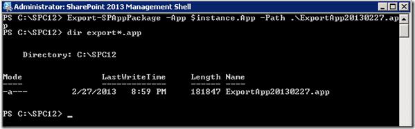 PowerShellAppExportSPAppPackage