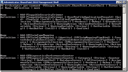 PowerShellGetCommandList