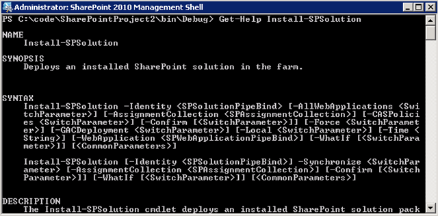 Adding and Deploying Solutions with PowerShell in SharePoint 2010