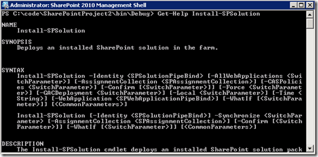 PowerShellGetHelpInstallSolution