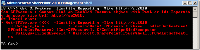 PowerShellGetSPFeatureSiteSpecificNotEnabled