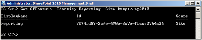 PowerShellGetSPFeatureSiteSpecific