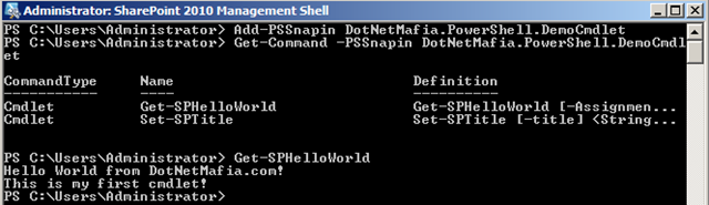 How to: Build a SharePoint 2010 PowerShell Cmdlet - Corey