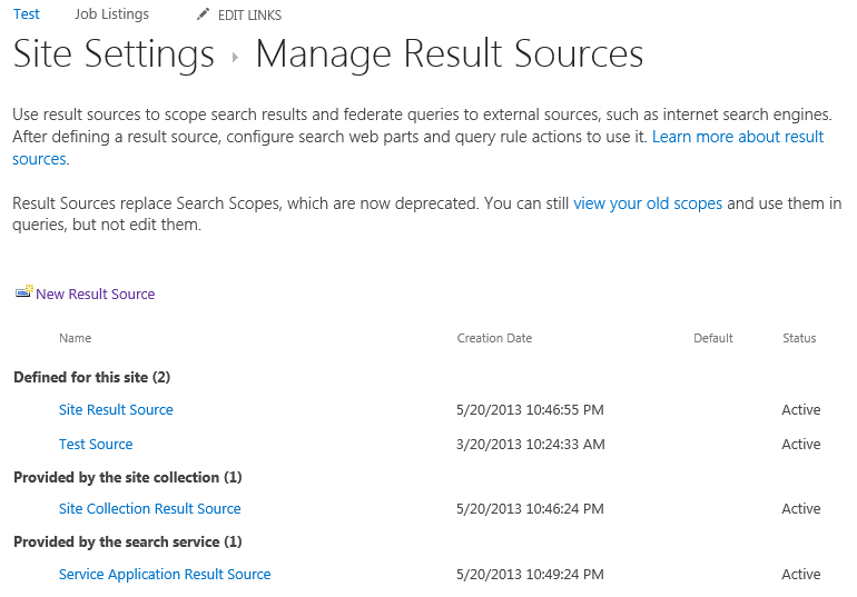 How to: Get a Result Source Id in SharePoint 2013 - Corey