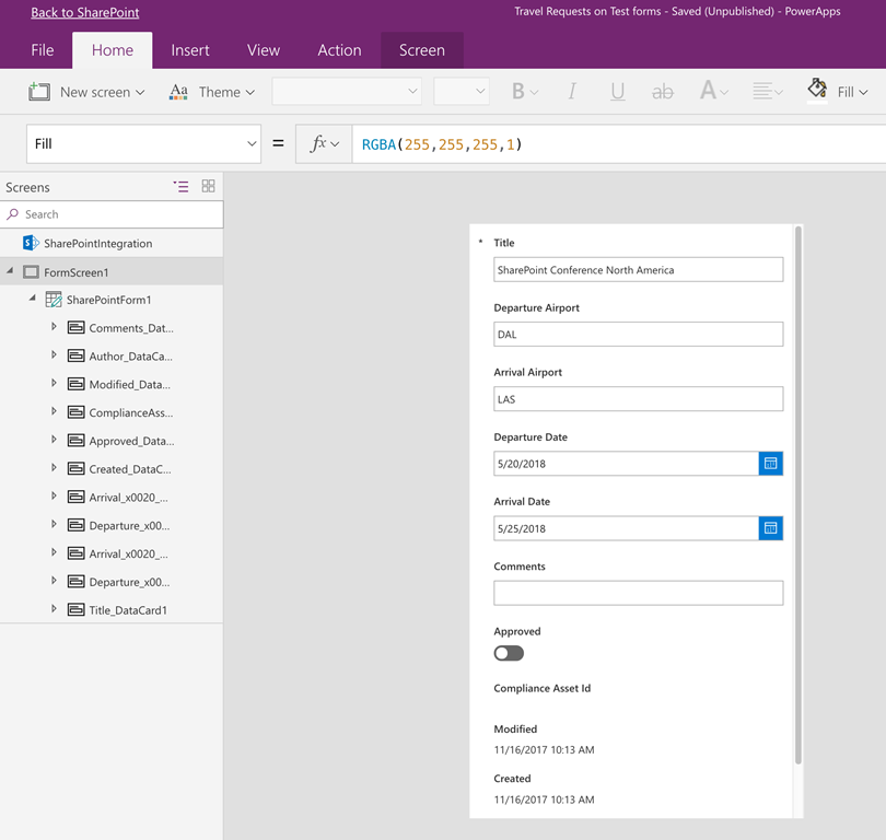 How to: Hide fields in SharePoint list forms using PowerApps