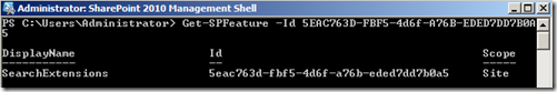 SearchExtensionsFeaturePowerShell