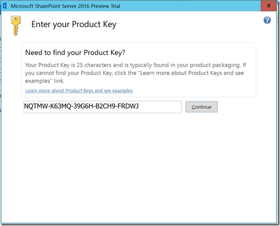 Sp2016P1InstallProductKey1