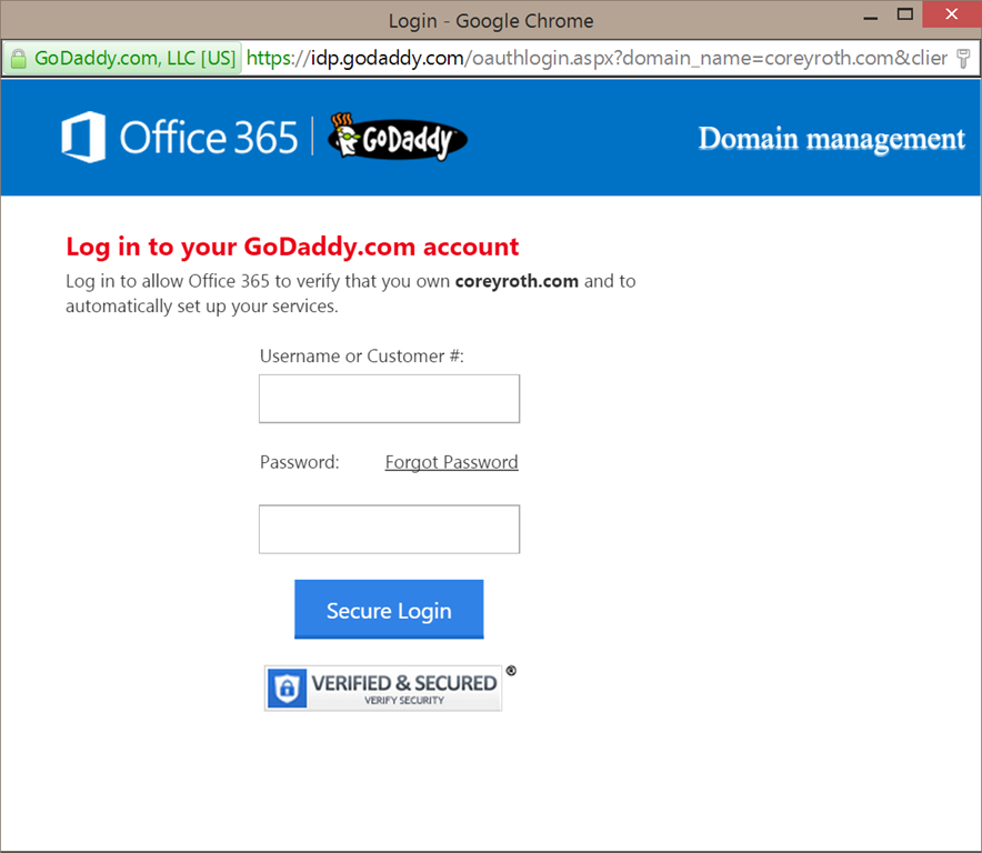 Adding a domain registered through godaddy to office 365 corey roth mvp - What is an office 365 account ...