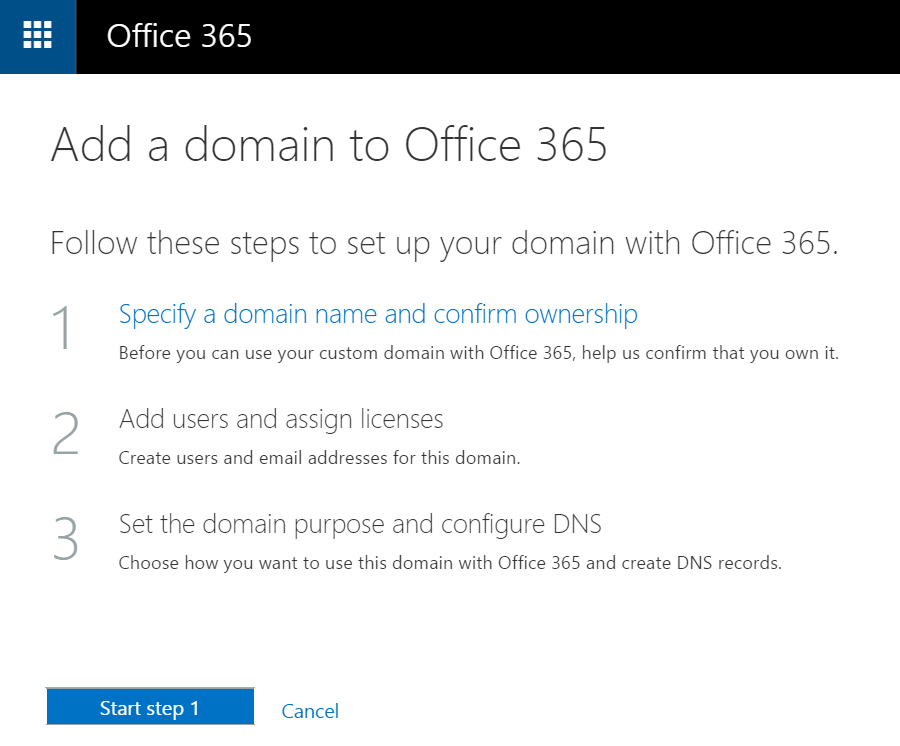 Adding a domain registered through GoDaddy to Office 365 - Corey
