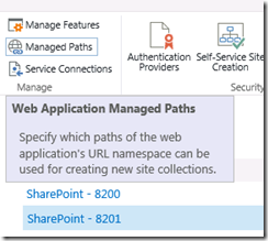 UPSWebApplicationsManagedPaths