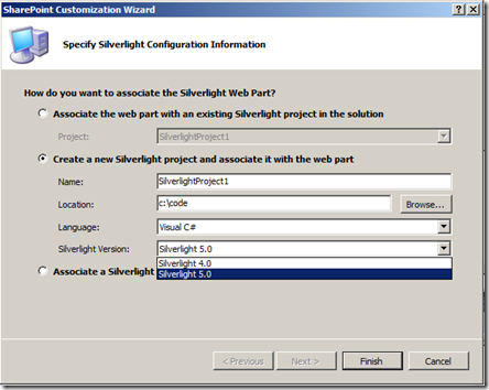 VS11DPNewSharePointSilverlightWebPart