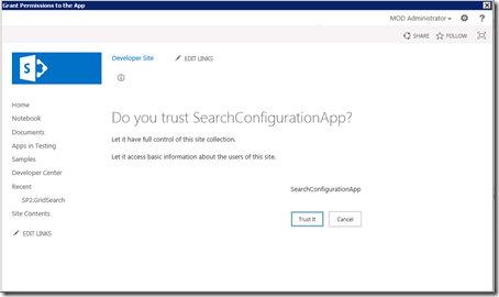 VS2012SearchConfigurationDeploymentTrust