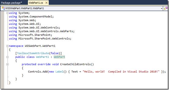 VSS2010Wss3WebPartCode