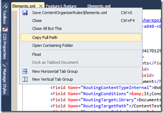 VisualStudioContextMenuFile