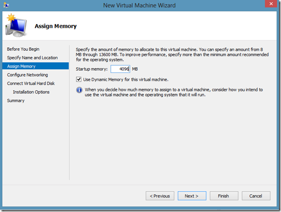 Windows8HyperVNewVirtualMachineMemory