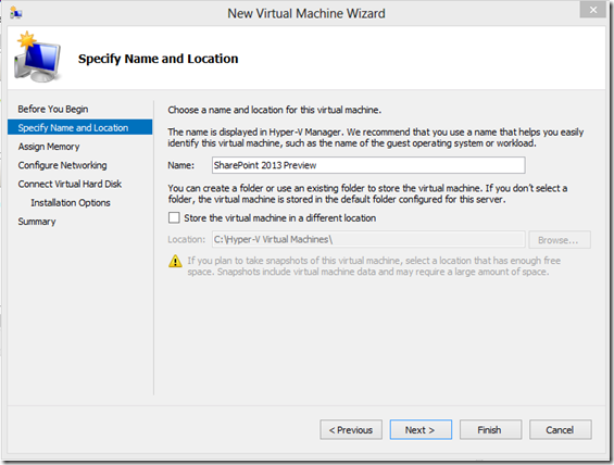 Windows8HyperVNewVirtualMachine